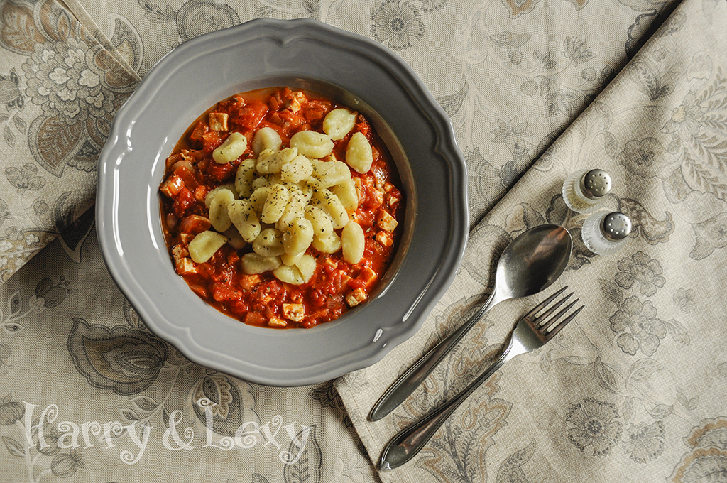 Gnocchi with Tomato Sauce and Feta Cheese - Harry & Lexy's Workshop