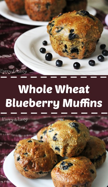 Whole Wheat Blueberry Muffins Recipe - Harry & Lexy's Workshop