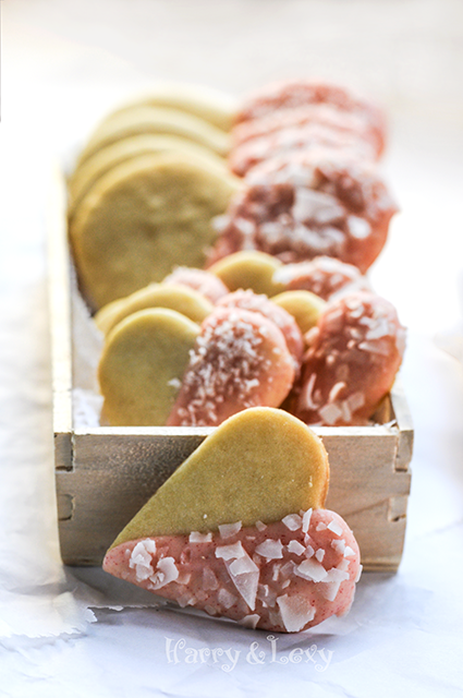 Heart Shaped Cookies with White Chocolate