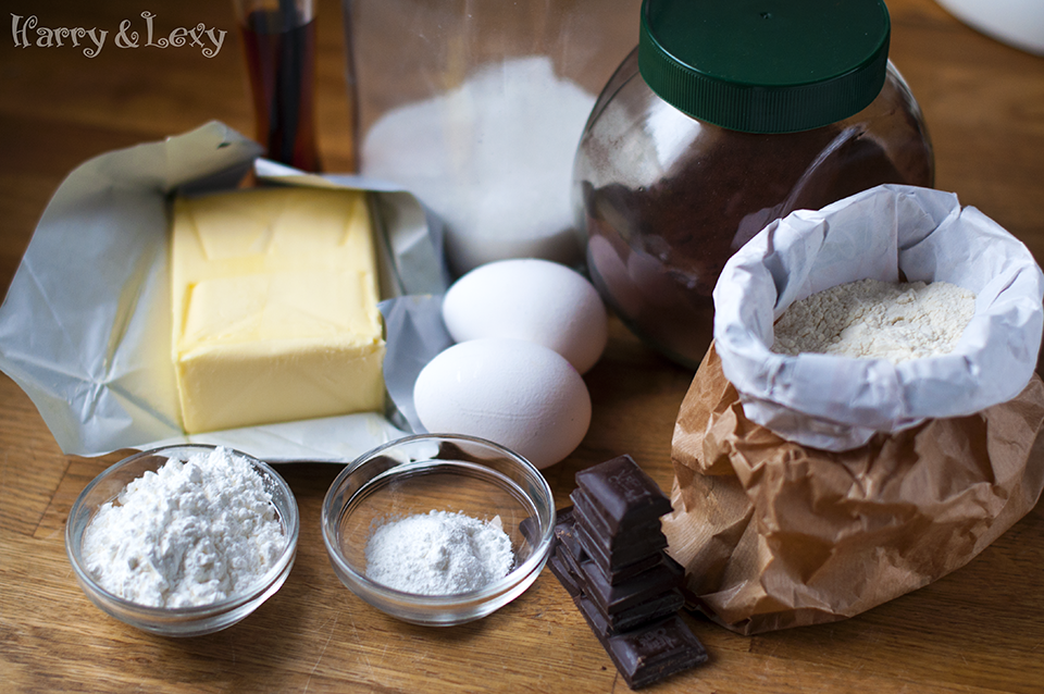 Chocolate Cookies Ingredients