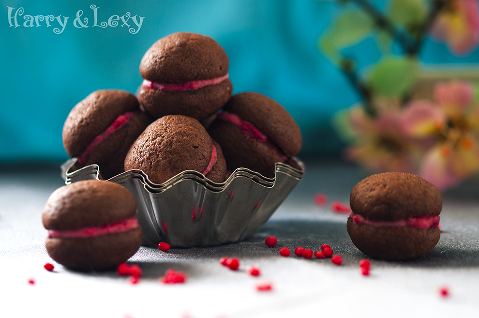 Chocolate-Raspberry Whoopie Pies