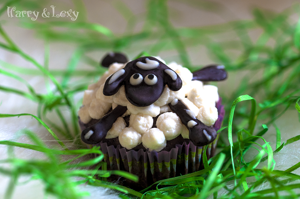 Chocolate Sheep Cupcake