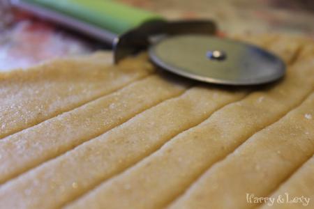 Лентички от тесто за пай