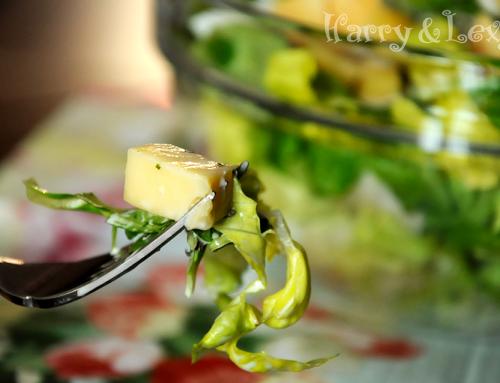 Зелена салата с майонезен сос