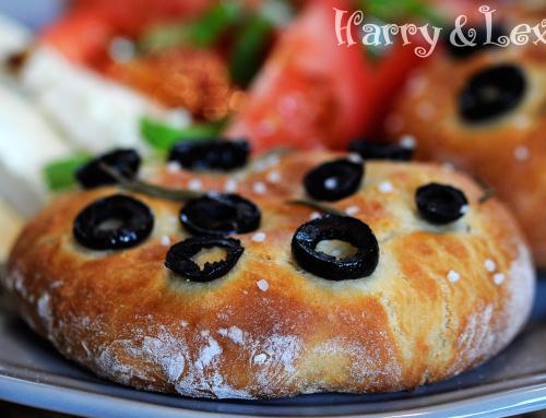 Фокача с маслини и розмарин