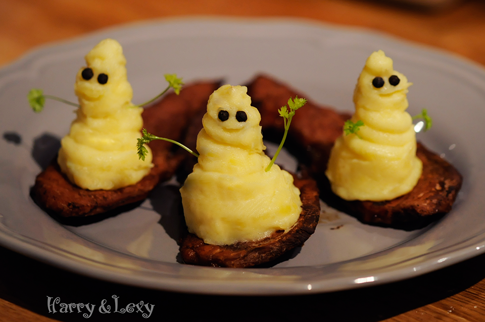 Ghost Potato Mash for Halloween