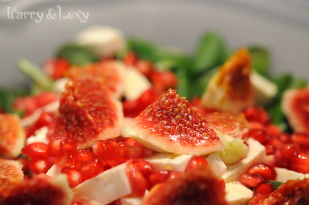 Leaf Salad with Pomegranate and Figs