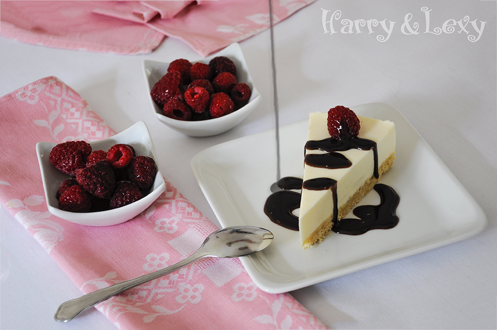 Easy Eggnog Cheesecake with Raspberries