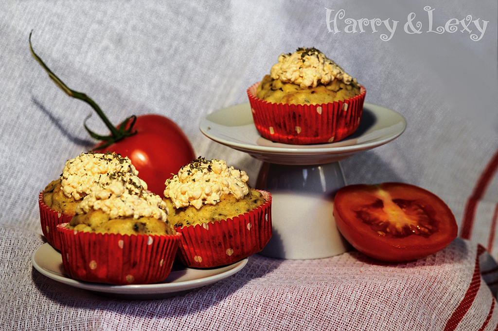Feta Cheese and Tomato Muffins