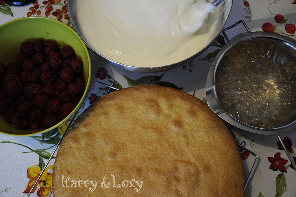 Raspberry Cake Preparation