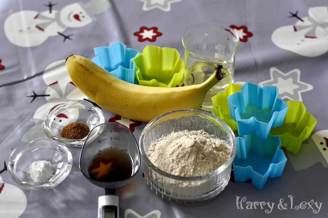Chestnut Banana Muffins Ingredients