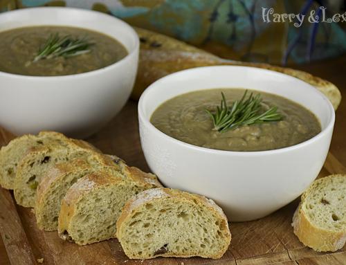 Кестенова супа с гъби шийтаке