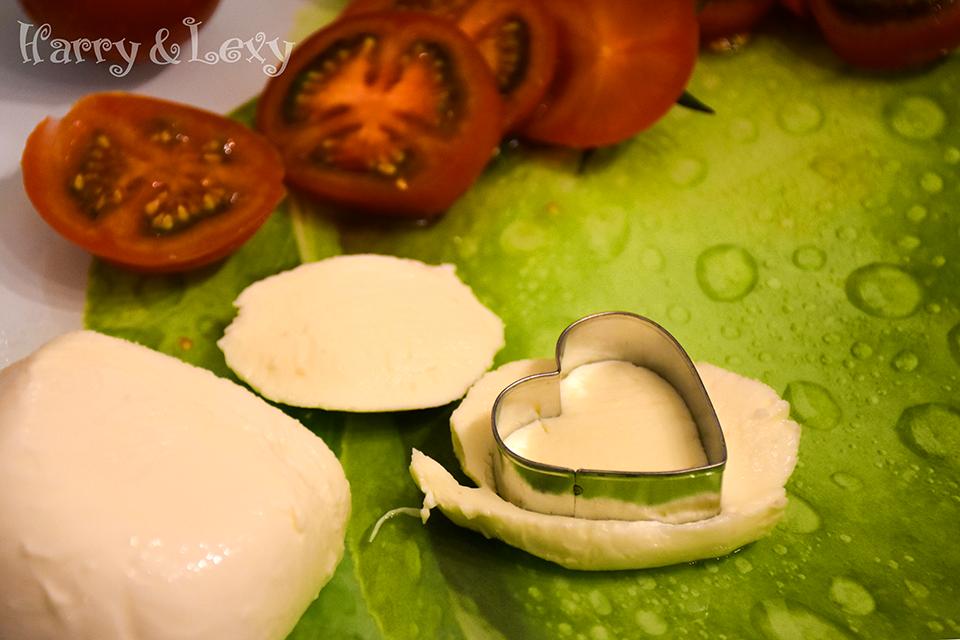 Heart Shaped Mozzarella Salad