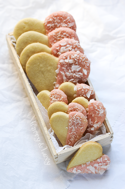 Chocolate Heart Cookies with Coconut