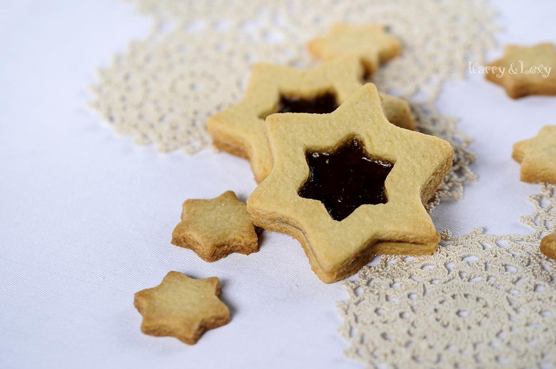 Linzer Star Cookies