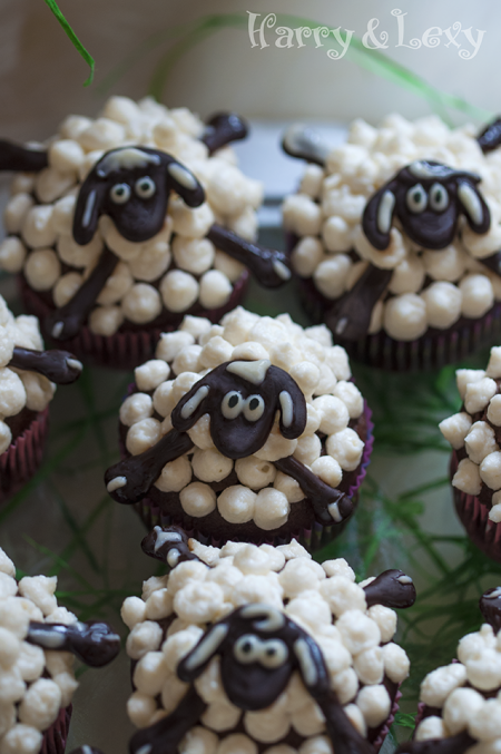 Easter Sheep Cupcakes