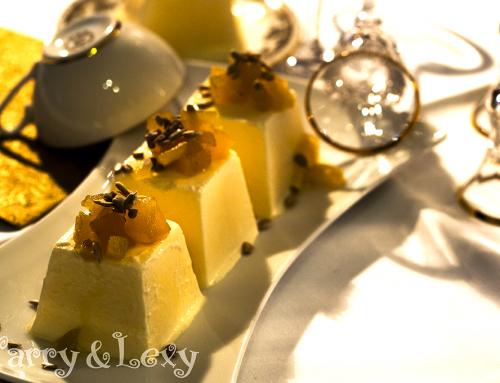 Парфе с козе крема сирене и ябълки