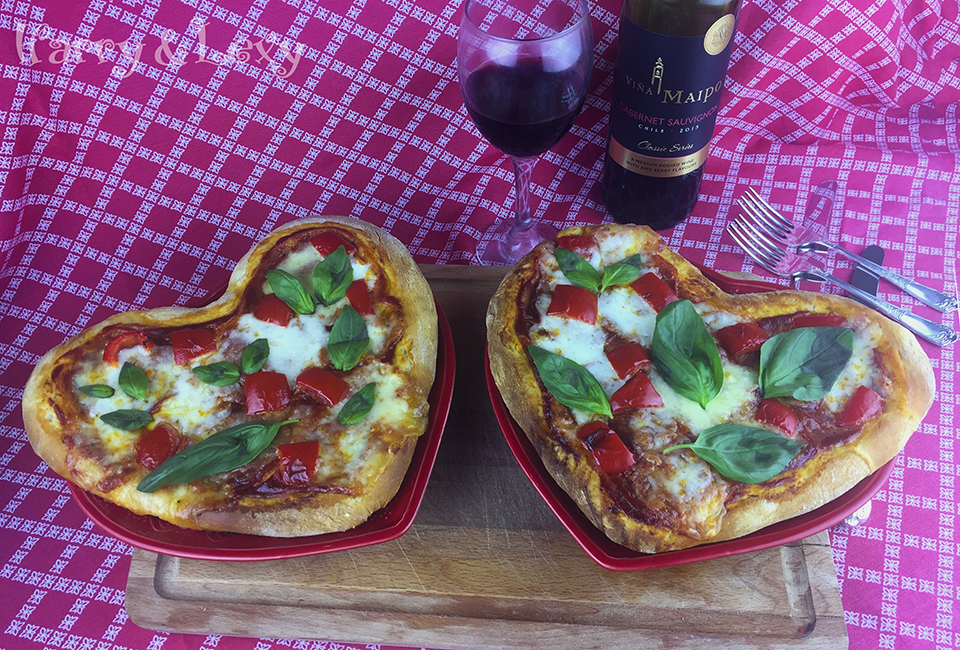 Heart Shaped Chorizo Pizza