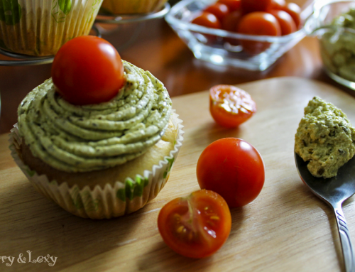 Pesto Cupcakes with Cream Cheese Frosting