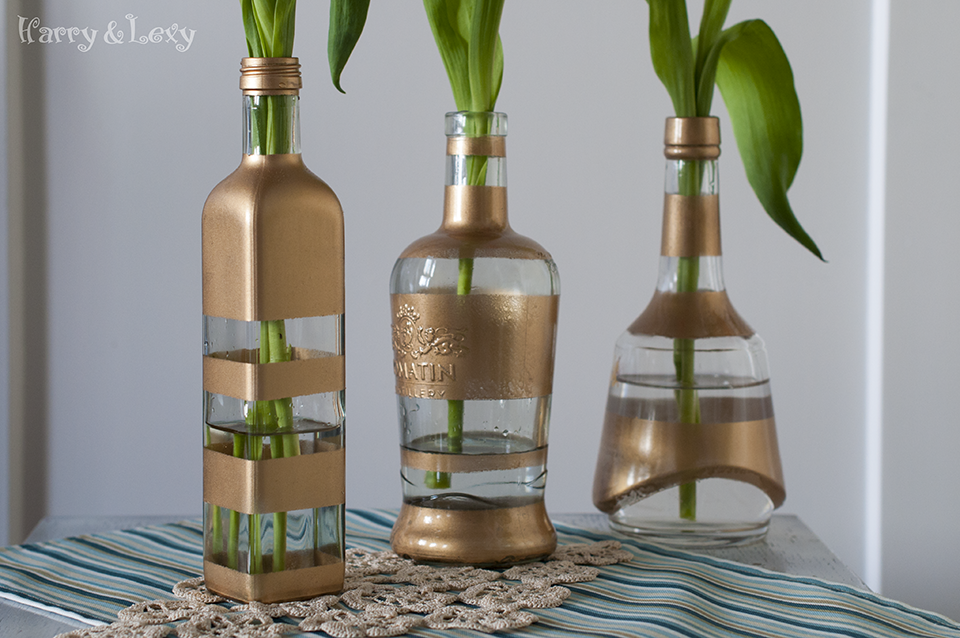 DIY Flower Bottle Vases