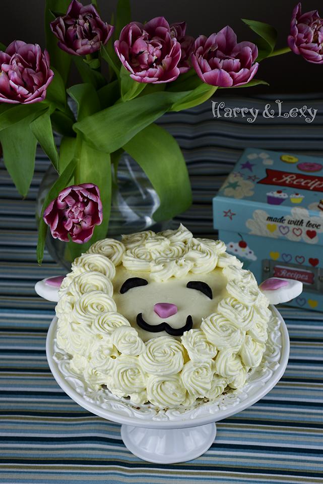 Easter Sheep Madeira Cake