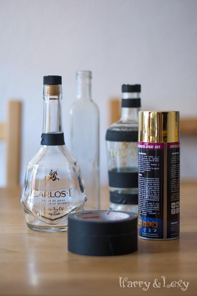 How to make bottle vases