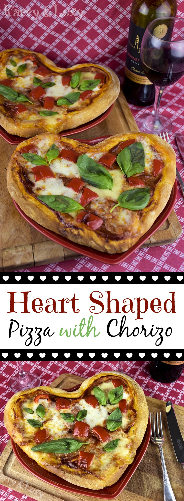 Heart Shaped Pizza with Chorizo