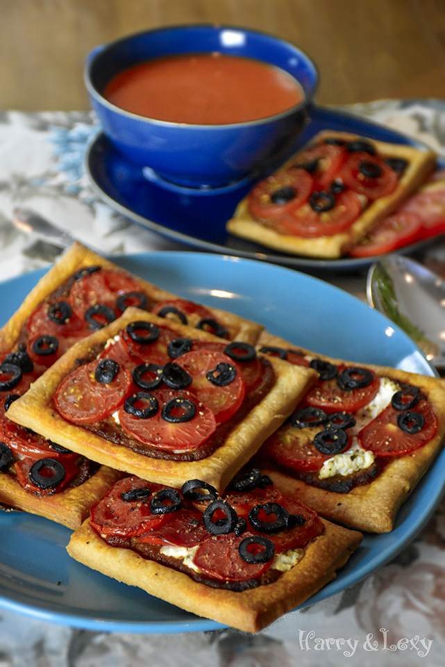Black Olive and Tomato Tarts