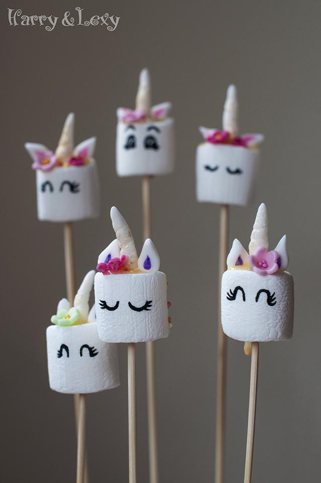 How To Make Easy Unicorn Marshmallow Pops Harry Amp Lexy S