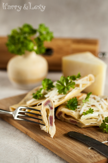 Savoury Pancakes with Blue Cheese