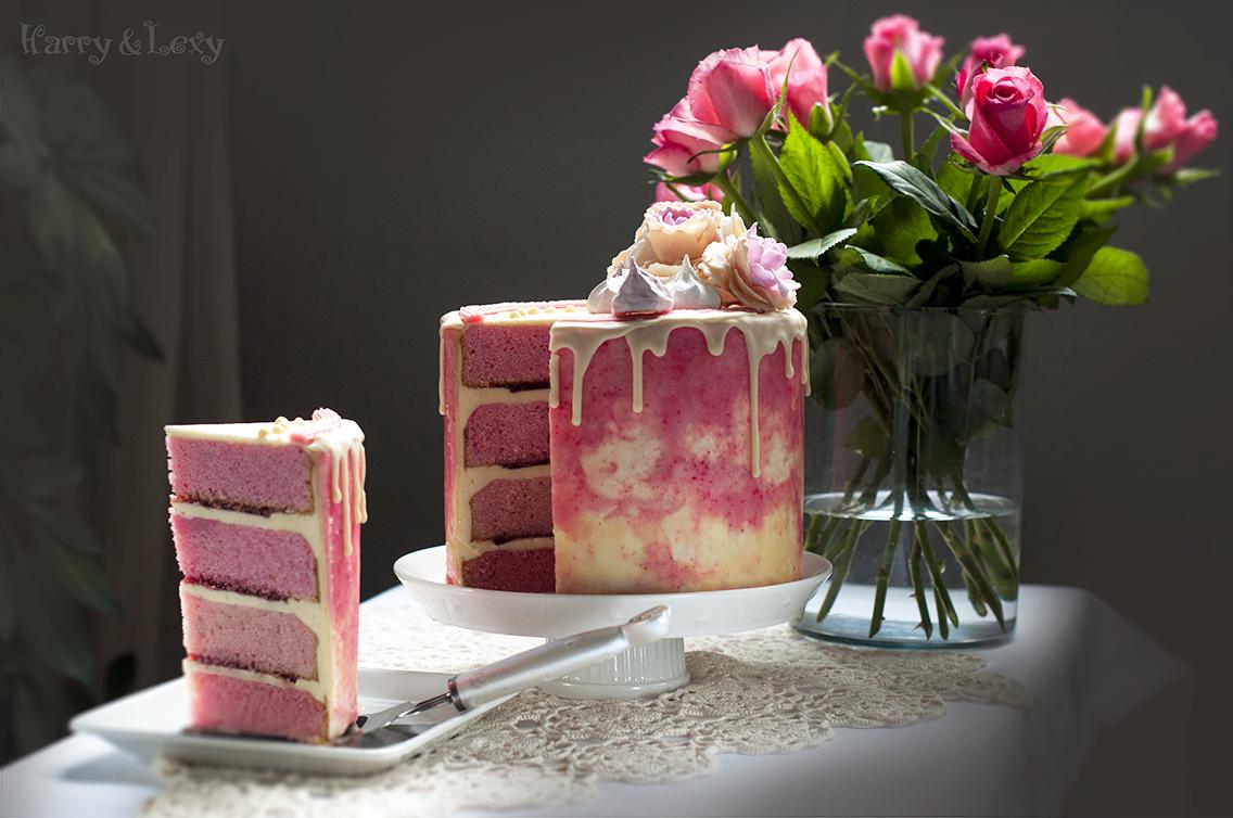 Swiss Meringue Buttercream Pink Layer Cake